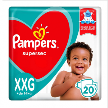 FR PAMPERS BASICA ECO SUPERSEC XXG 20UN