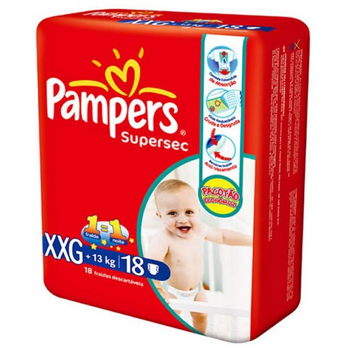 Fralda Pampers Supersec XXG 18 unidades
