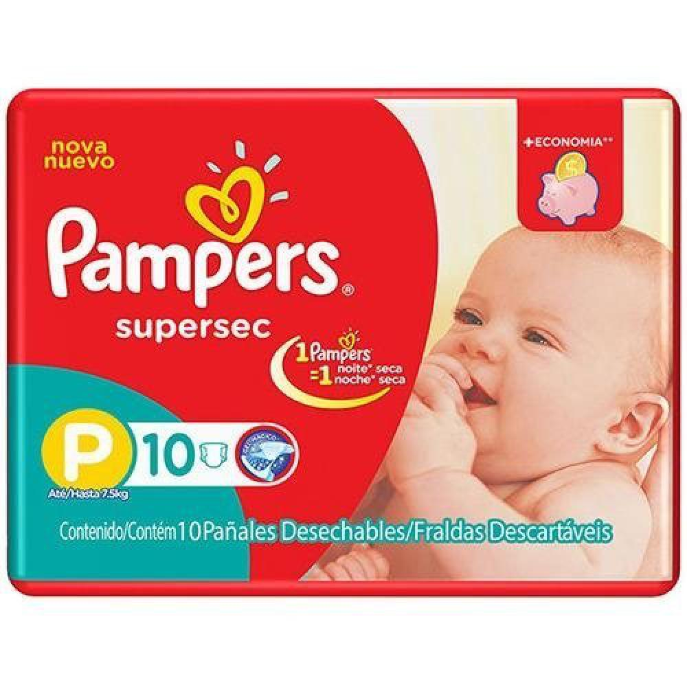 Fralda Infantil Pampers Supersec PP C/10