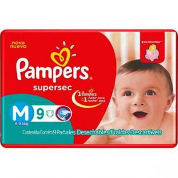 Fralda Infantil Pampers Supersec M C/9