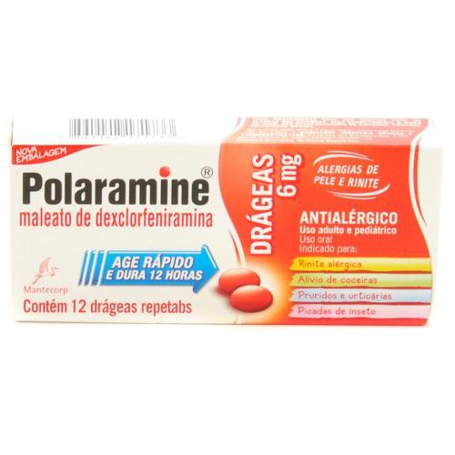 Polaramine 6mg com 12 drageas